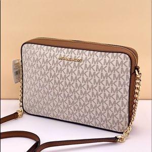 Michael Kors LG EW Crossbody Bag Vanilla
